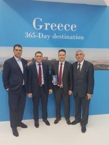 Ο Πρόεδρος της HORES (Business Association of Hotel and Restaurant Industry – Serbia) κ. Aleksandrar Vasilijevic, ο κ. Nikos Sliousarenko, o Πρόεδρος της ΠΟΞ κ. Γρηγόρης Τάσιος και ο Διευθυντής της HORES κ. Georgi Genov.